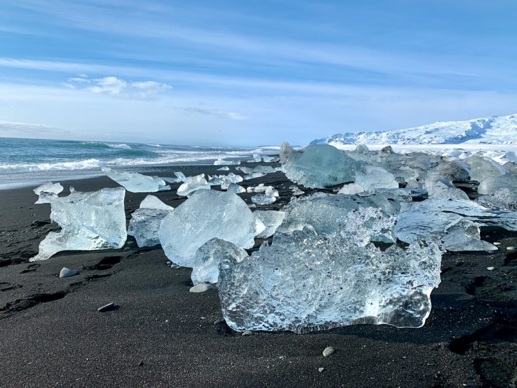 Diamond beach in south Iceland
