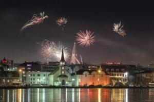 new years eve fireworks in Rekjavik