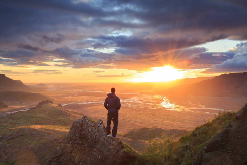 Sunset Hike in the Highlands of Iceland