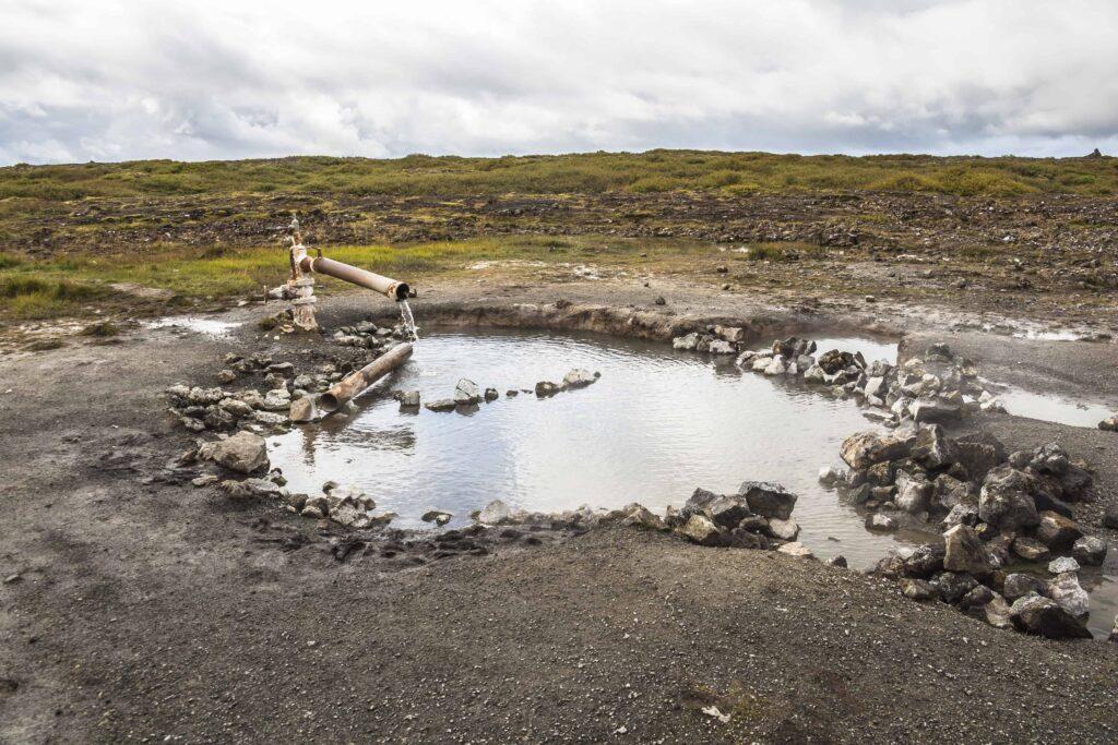 Landbortalaug hot spring in Snæfellsnes Peninsula
