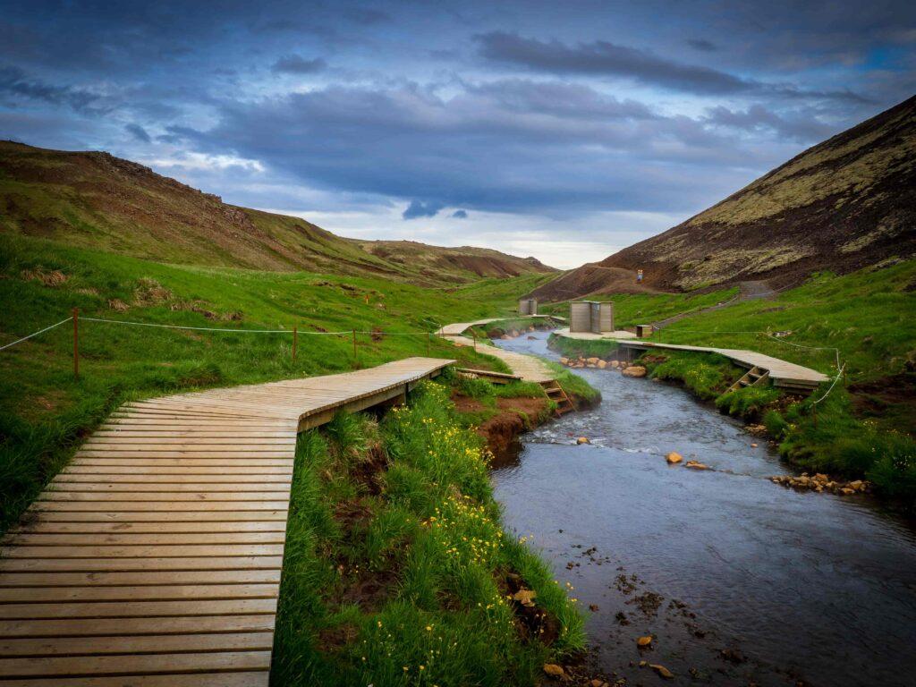 Reykjadalur hot spring and hike