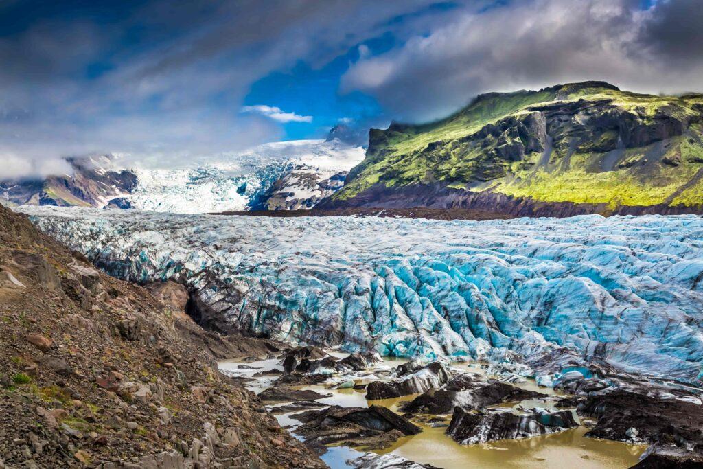 Vatnajokull glacier in Iceland, the largest glacier in Europe
