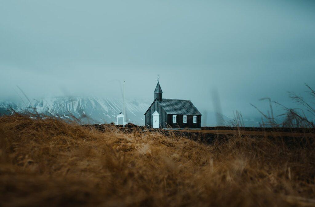 Búðarkirkja black church in Búðir Snæfellsnes