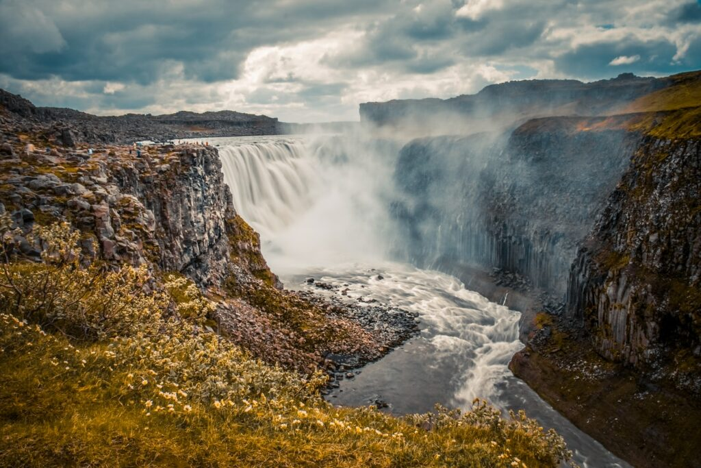 Dettifoss in north Iceland the most powerful waterfall in Europe