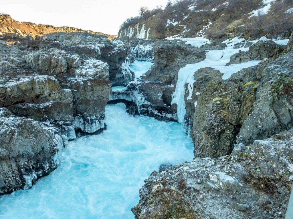 Barnafossar waterfalls