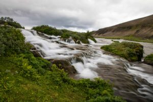 Fossabrekkur waterfalls in Iceland