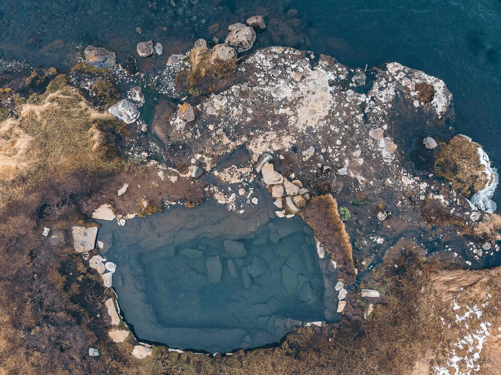 Fosslaug hot spring in north Iceland