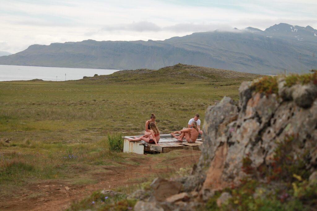 Djupavogskorin hot spring bath in east Iceland