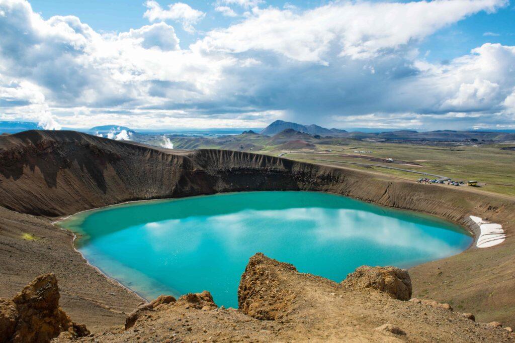 Krafla crater in north Iceland