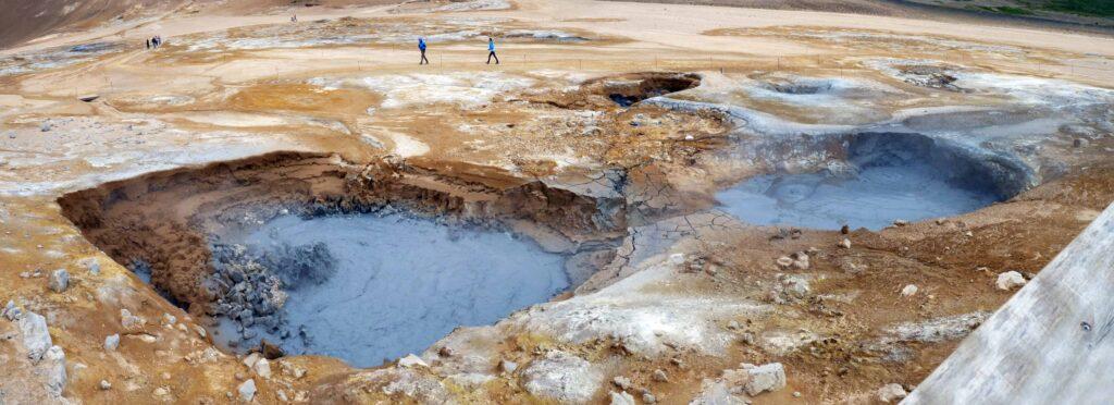 Námaskarð Hverir geothermal area in Myvatn region north Iceland