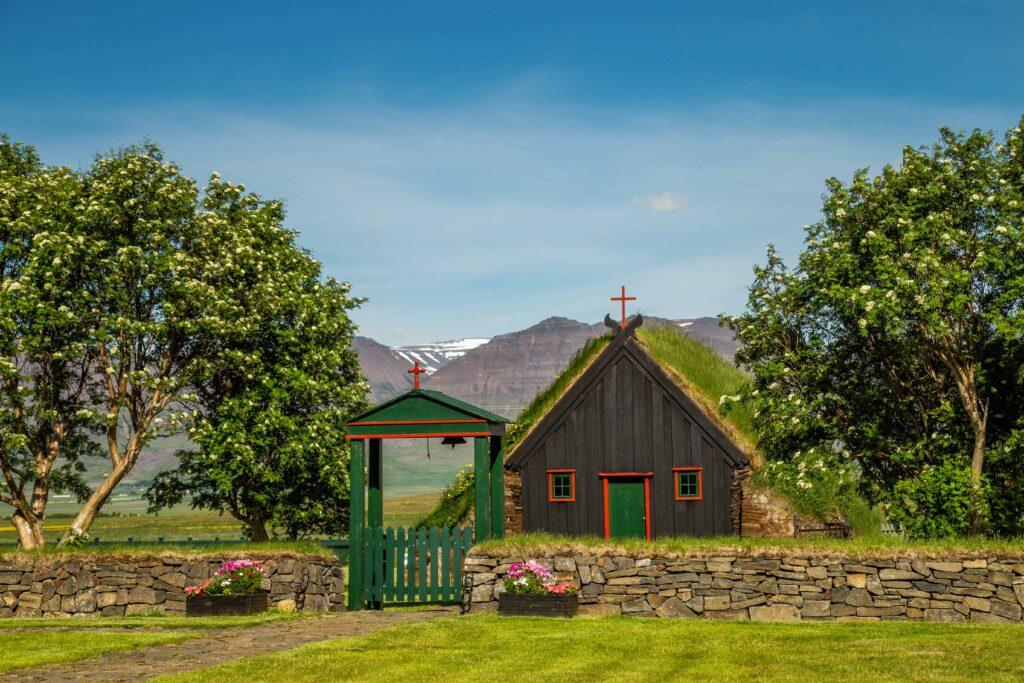 Víðimýrarkirkja turf church in Iceland