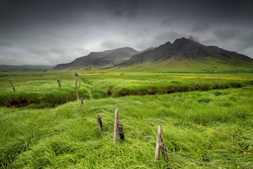 wind and mountain in Iceland