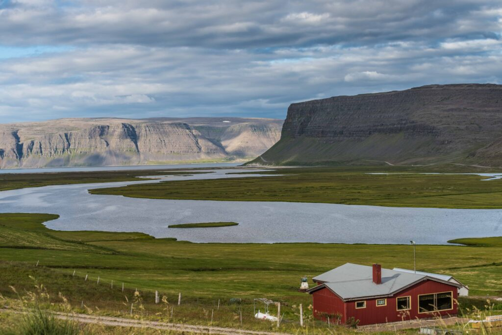 Bíldudalur fishing village in westfjords of Iceland