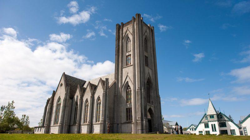 church in downtown Reykjavik on the Reykjavik walking tour