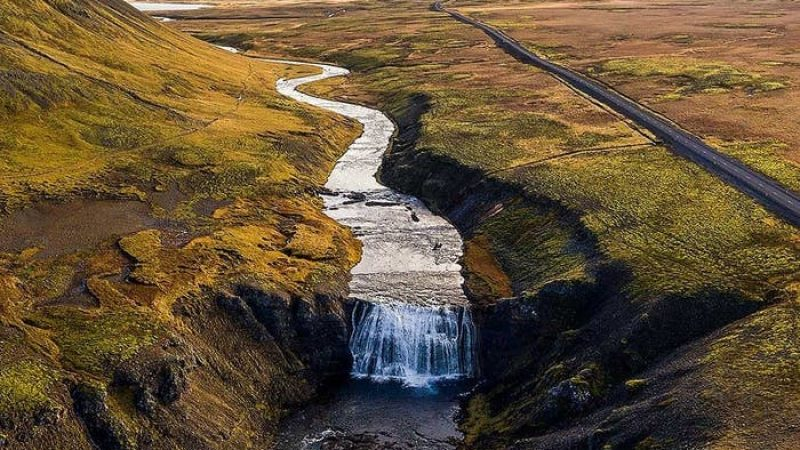 Þórufoss waterfall in the Game of Thrones tour in Iceland