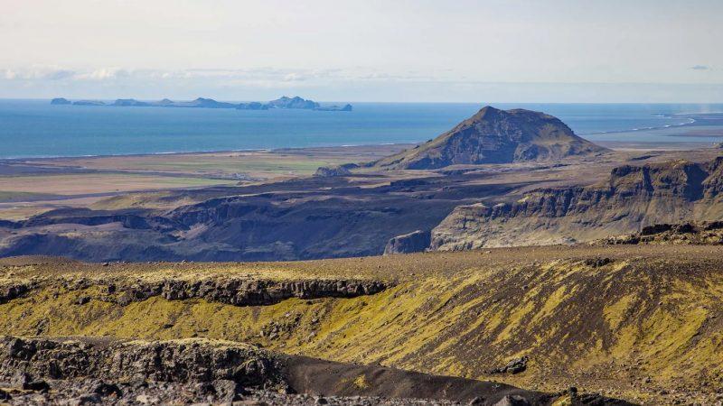Views from snowmobile tour on Myrdalsjokull glacier