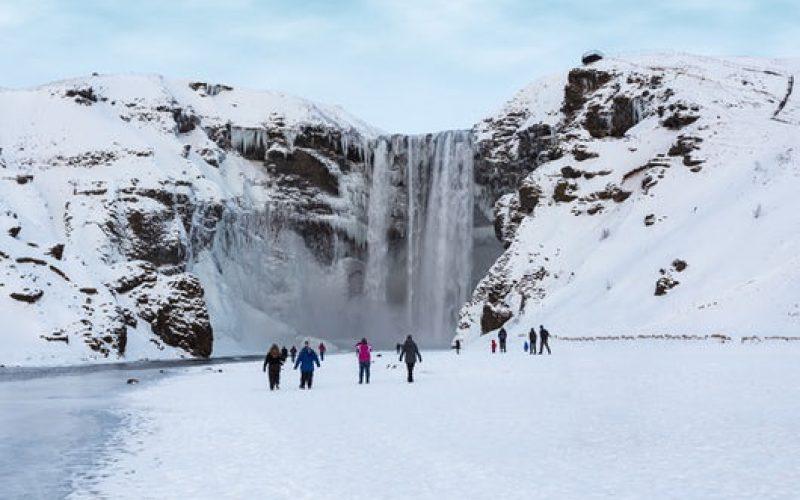 Skógafoss during winter