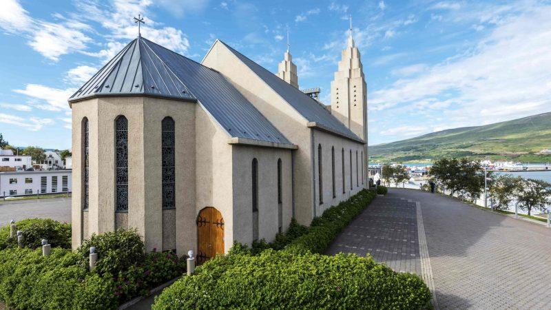 Akureyri Church in Akureyri in northern Iceland, capital of North Iceland