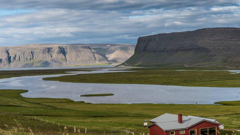 Bíldudalur fishing village in westfjords of Iceland