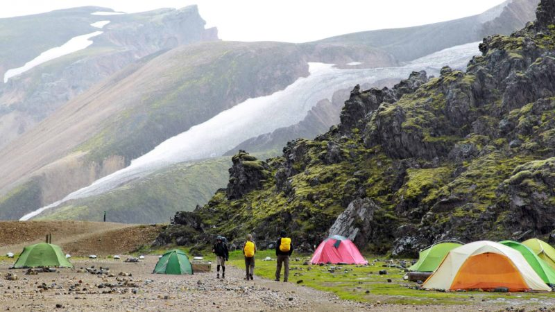 Camping in the highlands of Iceland