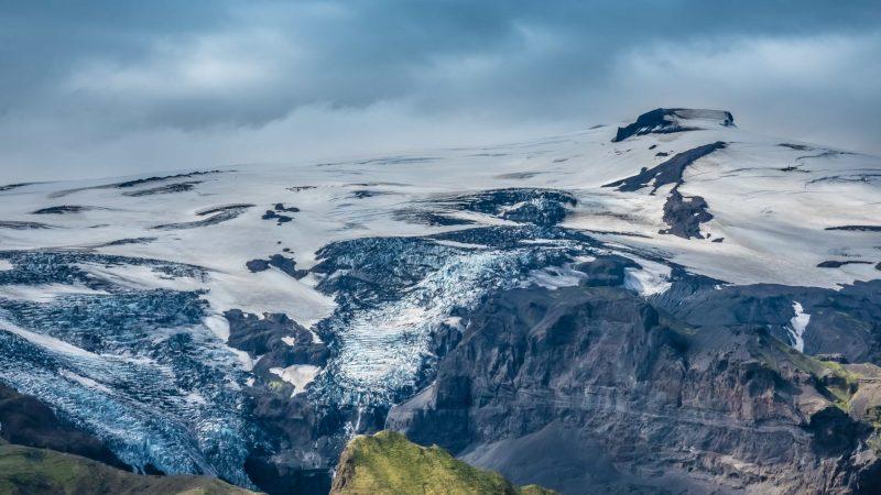 Eyjafjallajokull volcano and mountain in Iceland