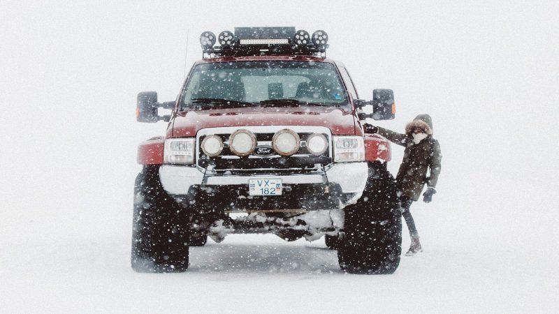Eyjafjallajokull Super Jeep tour during winter