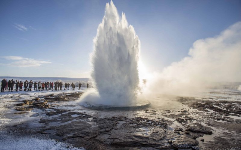 Geysir geothermal area in the Golden Circle