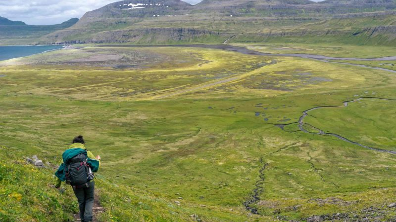 Hiking in Hornstrandir Nature Reserven in the Westfjords of Iceland