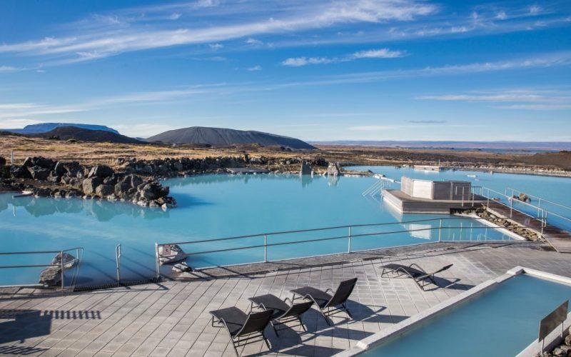 Myvatn Nature Baths in north Iceland hot spring