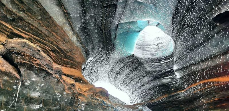 Katla Ice Cave under the volcano glacier