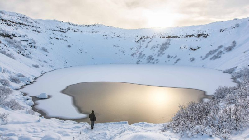 Kerið Crater in Golden Circle in Iceland