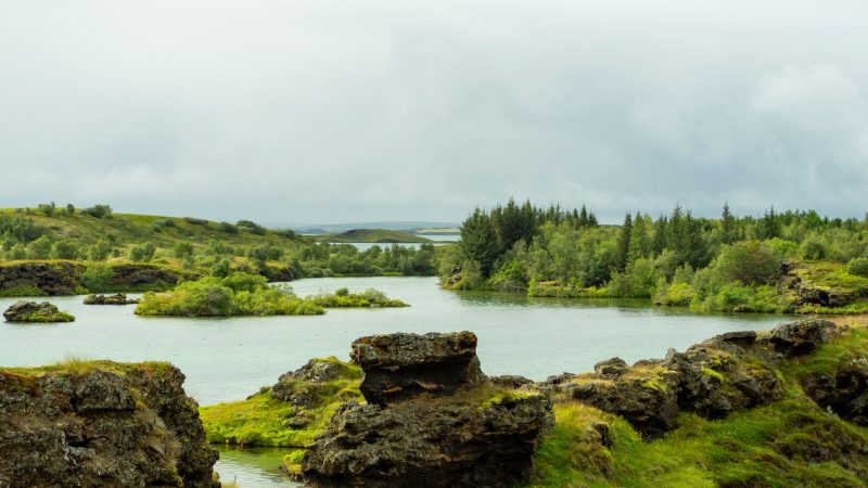 Lake Myvatn in north Iceland