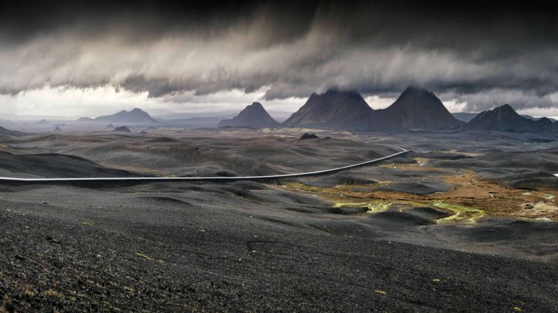 volcanic fields in Myvatn north Iceland