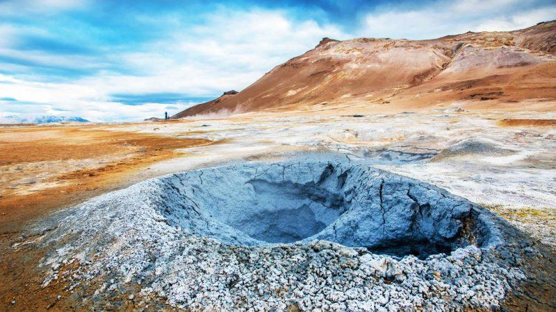 geothermal area Hverir Hverarönd in Myvatn north Iceland