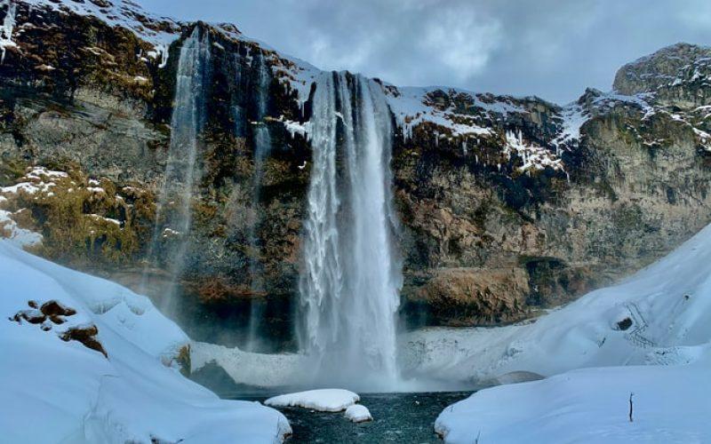 Seljalandsfoss during winter in Iceland