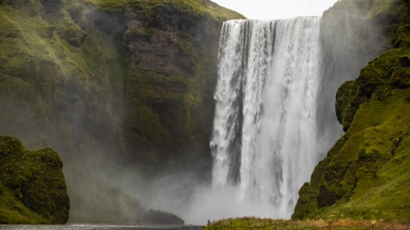 Skógafoss waterfall on the south coast of Iceland