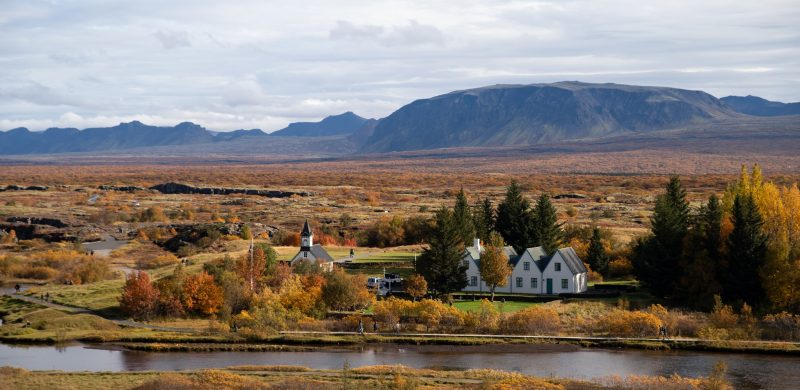 Thingvellir National Park during autumn in Iceland