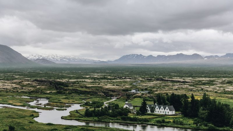 Thingvellir National Park during summer in Iceland