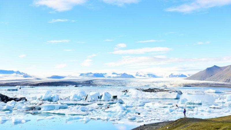 Vatnajokull National Park - Jokulsarlon glacier lagoon in south east Iceland
