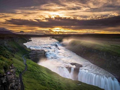 Gullfoss waterfall in Golden Circle