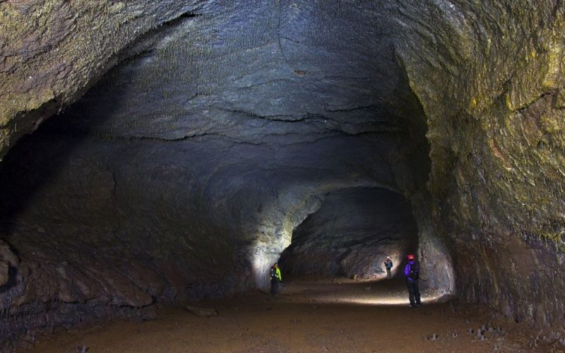 Víðgelmir lava cave in west Iceland