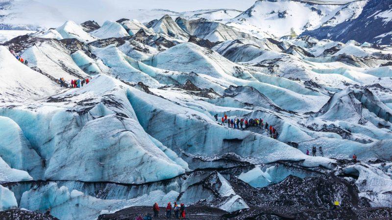 Iceland glacier hike on Sólheimajökull glacier