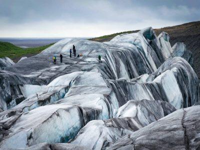 Iceland glacier hike in Svínafellsjokull glacier in Skaftafell National Park
