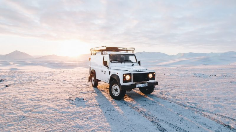 Super Jeep in the Iceland winter