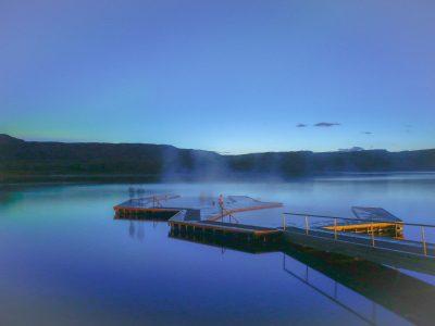 vök baths in east Iceland