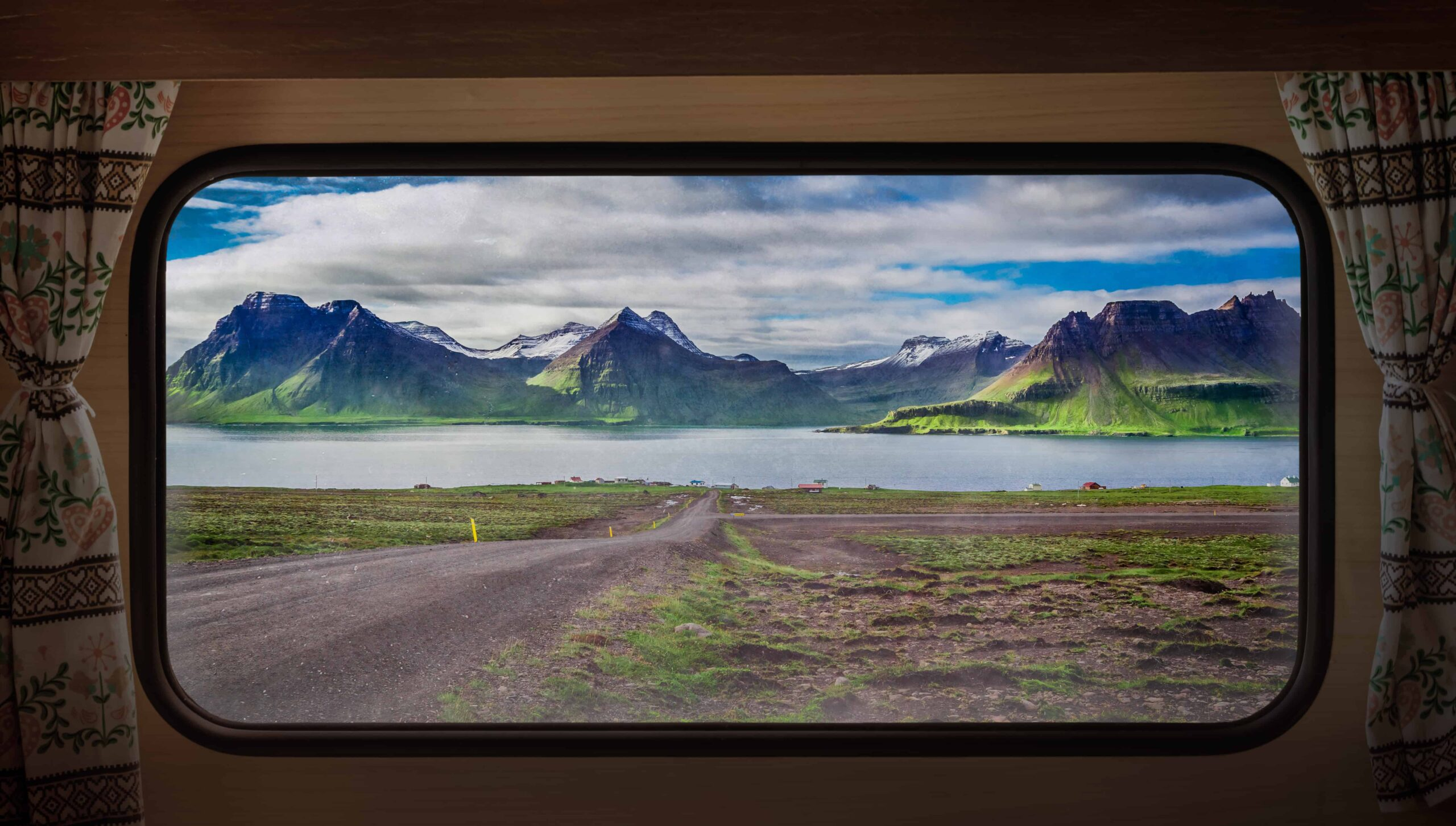 Highlands of Iceland seen from a camper van trip in Iceland