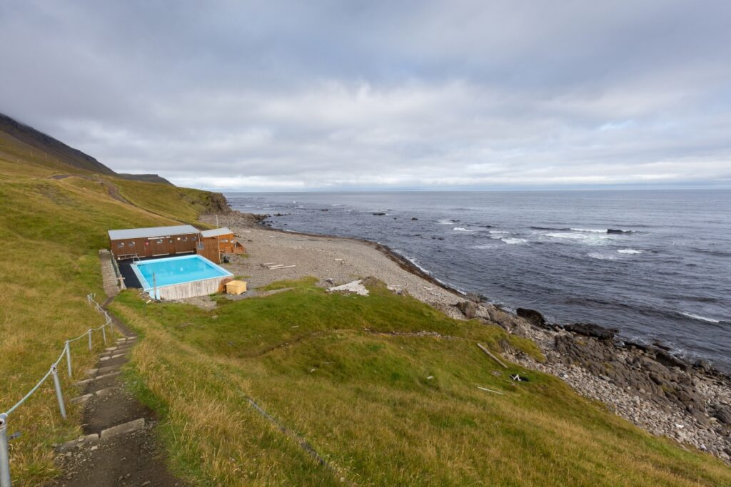 Krossneslaug pool in the Westfjords of Iceland
