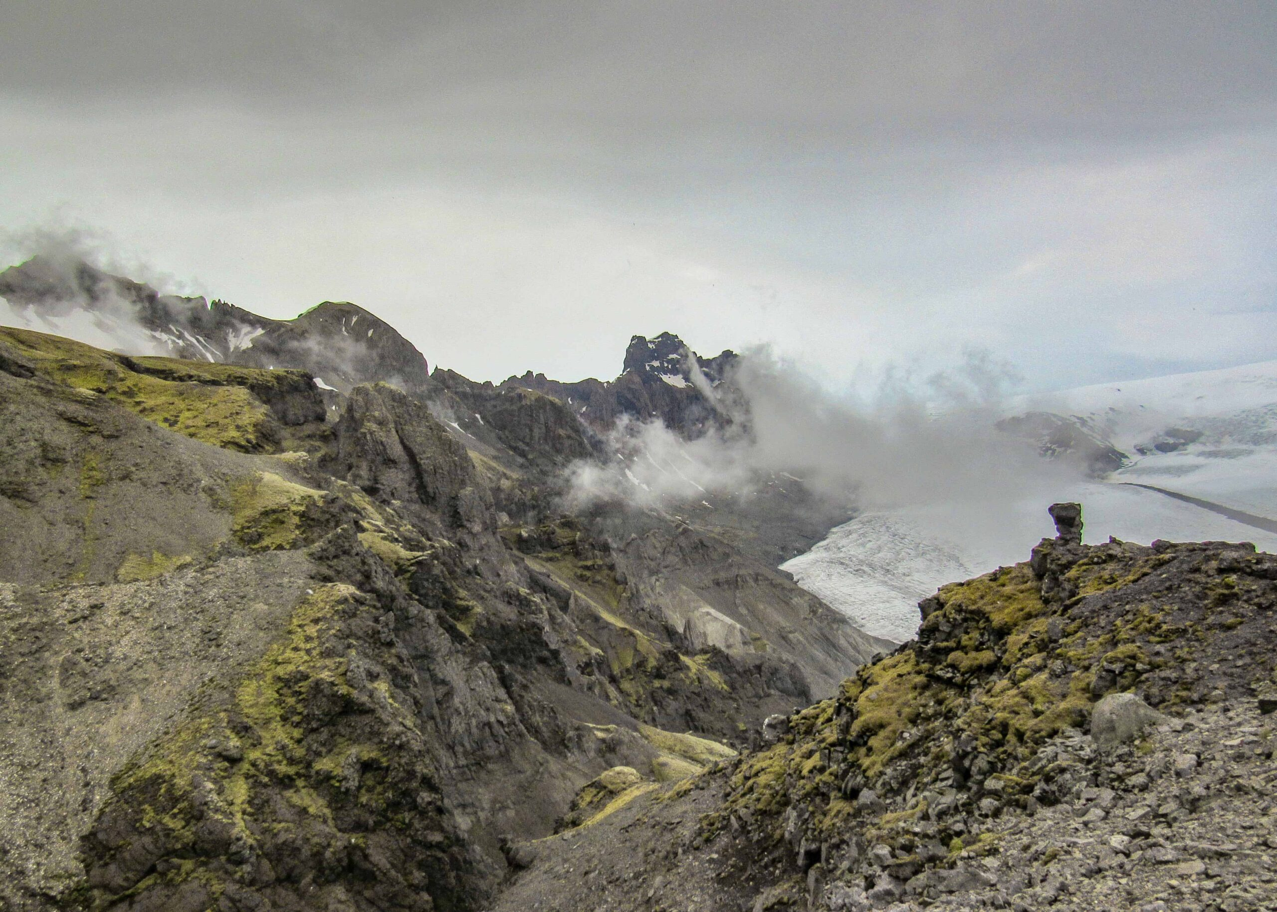 Kristínartindar mountains seen from Sjónarnípa view point in Skaftafell Nature Reserve