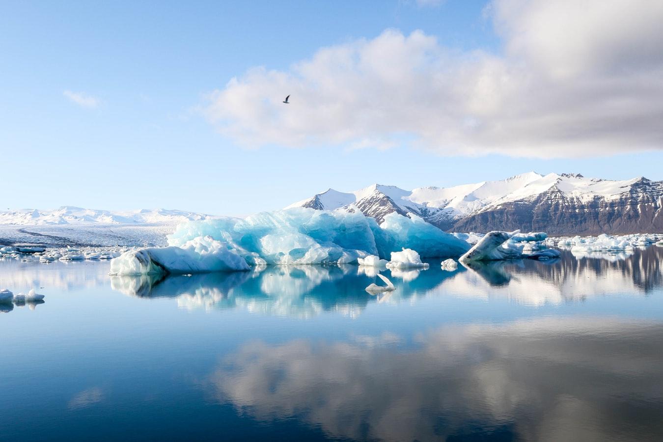 Jokulsarlon glacier lagoon in south east Iceland