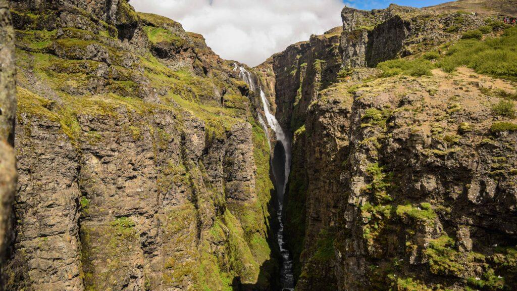 Glymur highest waterfall in Iceland